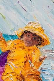 rainbow painting on wood hook handle umbrellas umbrellas group