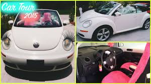 volkswagen white convertible car tour 2015 vw beetle convertible triple white youtube