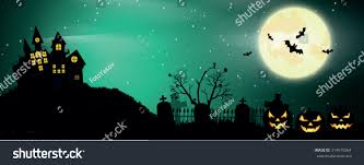black cat halloween background halloween poster vector background stock vector 314615564