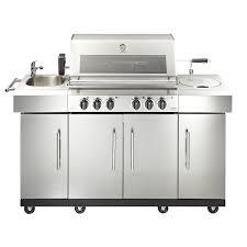 aussenküche edelstahl enders aussenküche gasgrillküche kansas 4 edelstahl outdoor