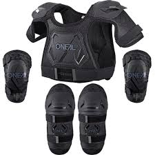 motocross safety gear new oneal mx youth motocross black peewee chest elbow knee toddler