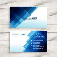 Business Card Backgrounds Free Download Ai Abstract Blue Business Card Template Vector Free Download Pikoff