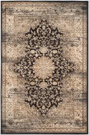 Safavieh Rugs Safavieh Vintage Vtg574f Black And Ivory Area Rug Free Shipping