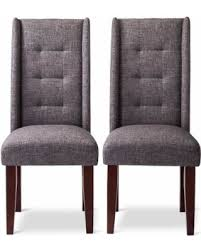 Wingback Dining Chairs Sale Great Deals On Modern Wingback Pin Tuck Dining Chair