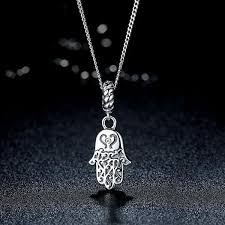 hamsa sterling silver necklace images Sterling silver hamsa necklace zen vibes jpg