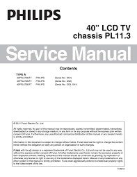 manual tv philips 40pfl4706 f7 chassis pl11 3 by portal da