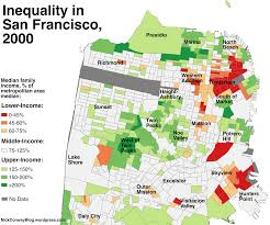 San Francisco County Map by The Disappearance Of San Francisco U0027s Middle Class Neighborhoods