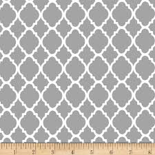 quatrefoil grey white from fabricdotcom this cotton print fabric