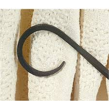 iron curtain tiebacks smooth hook pair