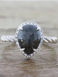 shaped rings images Leticia pear shaped rough diamond engagement ring ken dana design jpg