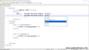 Css Table Border Color Border Bottom Color In Css Hindi Youtube