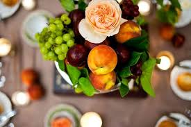 fruit centerpiece wedding centerpiece