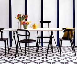 black and white pattern floors