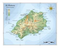 Physical Map Of South America Rivers by Maps Of St Helena Detailed Map Of St Helena Island In English