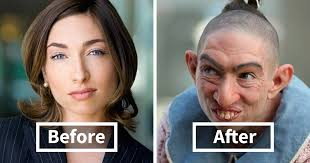 special effects make up 30 pics of actors before and after applying
