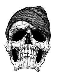 skull with cap design