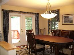 dining room dining room curtains ideas with splash of blue for