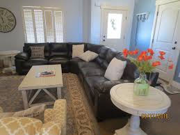 new a 4 bedroom fresh comfortable and lu vrbo large top grain leather sectional enjoy the plush wool rug under your feet