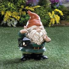 garden gnome light up lantern yard lawn patio path outdoor deck