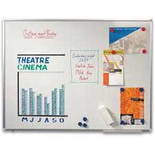 60 cm staples dry wipe whiteboard enamel magnetic surface 45 x 60 cm