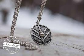 necklace with photo pendant images Lagertha 39 s shield pendant unique sterling silver viking necklace jpg