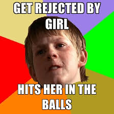 Rejected Meme - get rejected by girl hits her in the create meme