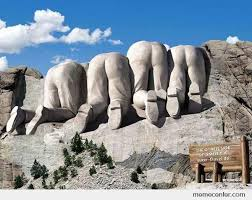 mt rushmore rarely seen rear view of mt rushmore by ben meme center