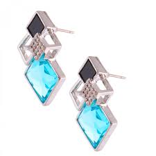 bluestone earrings four square with blue earrings for