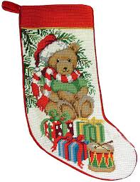 christmas needlepoint festive teddy needlepoint a of dogs for the