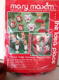 christmas craft kit christmas ornaments kit pompon teddy