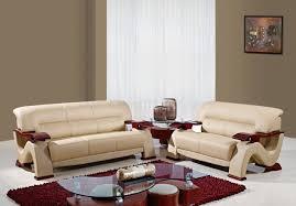 3 Pc Living Room Set Leather 3pc Modern Living Room Set W Mahogany Arms