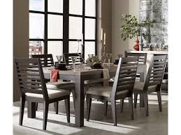 7pc Dining Room Sets Legacy Classic Helix 7 Piece Dining Set With Slat Back Side Chairs