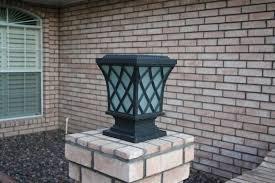 Premium Classic Solar Pillar Light In Black Yardbright Landscape