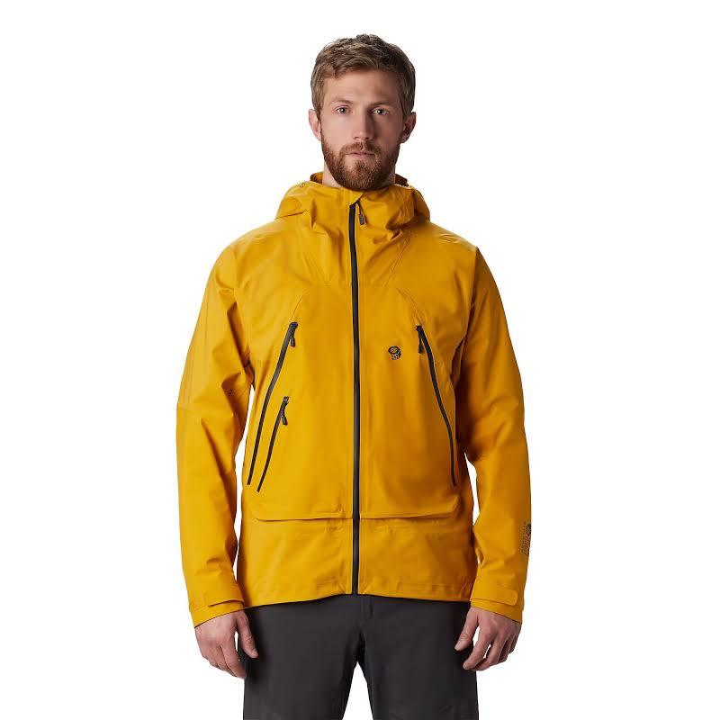 Mountain Hardwear High Exposure Gore-Tex C-Knit Jacket Gold Hour Large 1851351750-L