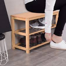 wooden shoe bench 2 3 tier wooden shoe rack stand storage cabinet closet bench
