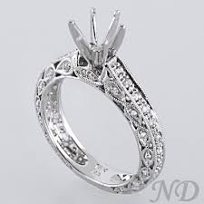 ring settings without stones diamond scallop antique ring setting