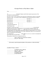 notice to pay rent or quit georgia free download