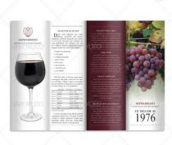 wine brochure template wine brochure template 10 bar and lounge brochure templates