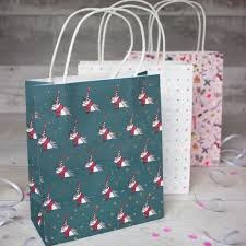 themed paper unicorn themed christmas gift paper bags pack of 3 bags wrapping