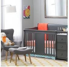 Baby Cribs With Changing Tables Baby Crib Changing Table Set Gray Infant Nursery Furniture Wood