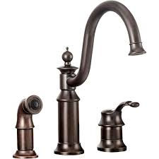 moen waterhill kitchen faucet moen s711orb waterhill one handle kitchen faucet in rubbed bronze