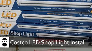 hardwired led shop lights costco led shop light install youtube