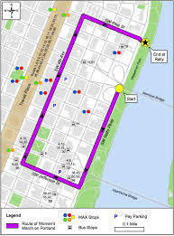 Portland Maps Com by Portland Women U0027s March Releases 44 Block Downtown Protest Route