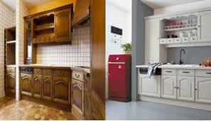 cuisine avant apr鑚 idée relooking cuisine peinture sur plan travail cuisine