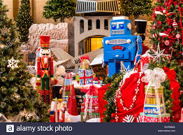 photographs of the yearly christmas display set at union station