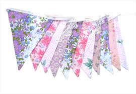 vintage bunting pretty pretty pink floral u0026 lace shabby chic