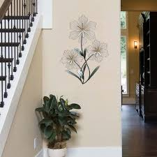 overstock com home decor stratton home decor tri flower metal wall decor free shipping