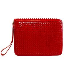 christian louboutin spiked red leather ipad case rewind vintage
