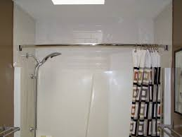 Bathroom Shower Curtain Rod Neo Angle Solid Brass Shower Curtain Rod Bathroom Regarding