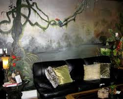 jungle themed living room adorning house with natural nuance beautiful living room wall murals jungle theme living room